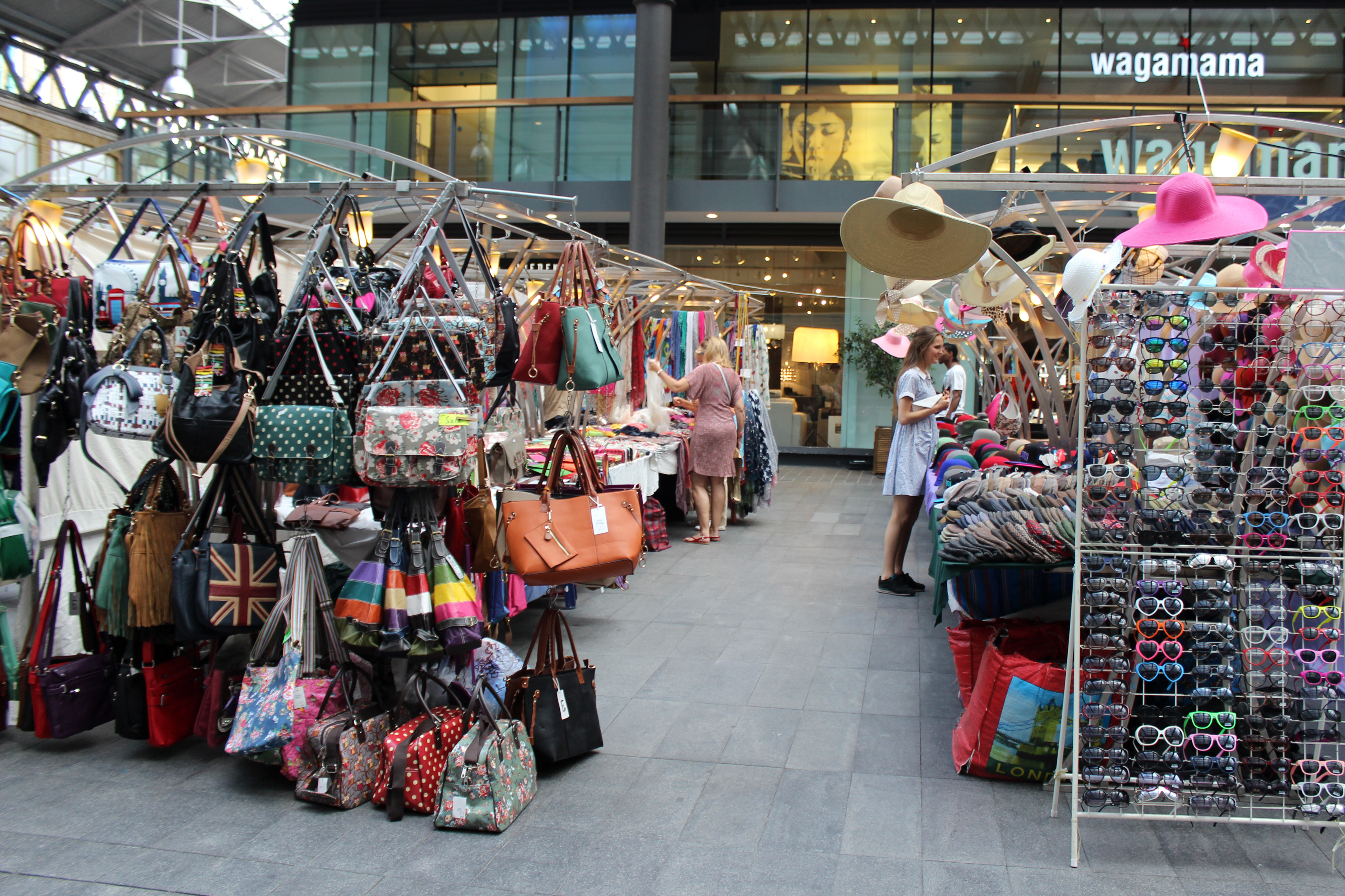Shopping at Old Spitalfields Market in East London ...